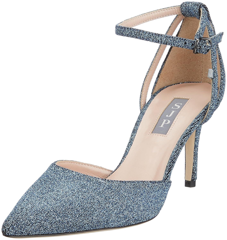 SJP by Sarah Jessica Parker Quest, con Scarpe con Quest, Cinturino alla Caviglia Donna  Blu (Blue Jersey) 1500a6