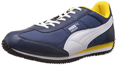 fa53da1b2bc8bf Puma Men s Speeder Tetron II Ind. Peacoat-White-Dandelion Running Shoes - 11