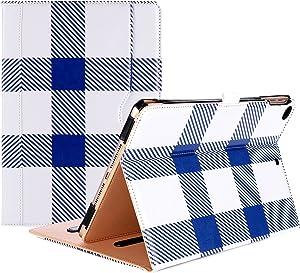 ProCase iPad 9.7 Case 2018/2017 iPad Case - Stand Folio Cover Case for Apple iPad 9.7 inch, Also Fit iPad Air 2 / iPad Air -Plaid