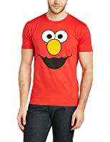 Sesame Street Men's Elmos Face Short Sleeve T-Shirt