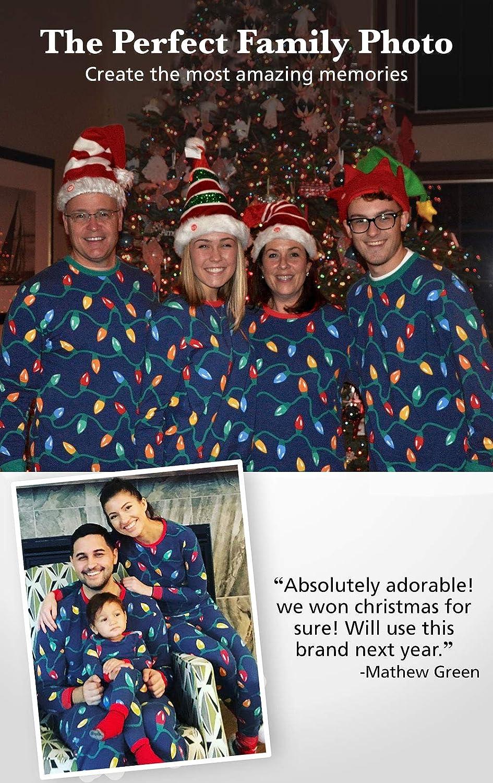 c9c18058 Amazon.com: PajamaGram Matching Christmas Pajamas for Family - Blue:  Clothing