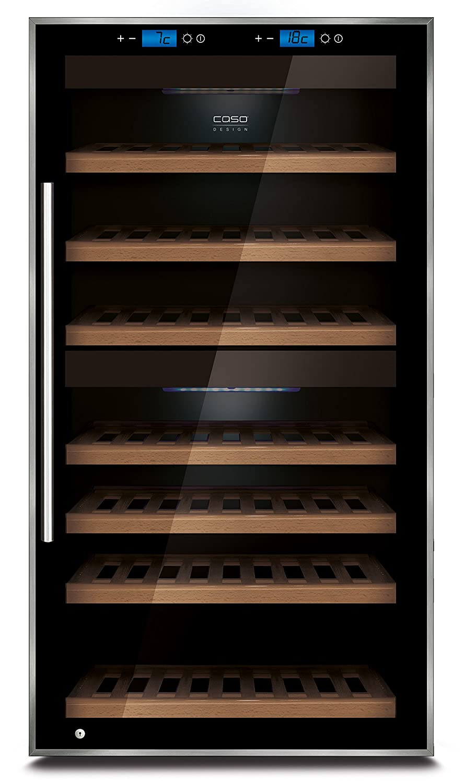 Caso WineMaster Touch 66 Freestanding Sistema per il Raffreddamento del Vino, Nero 662