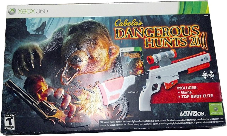 2 x Cabela s Dangerous Hunts Top Shot Elite Gun Controller – Xbox 360: Amazon.es: Electrónica