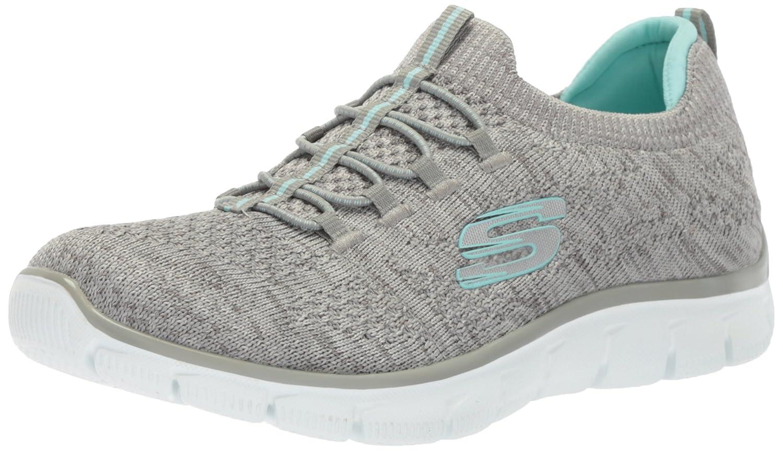 Skechers Sport Women's Empire Sharp Thinking Fashion Sneaker B071GRQ11R 7.5 B(M) US|Gray Light Blue
