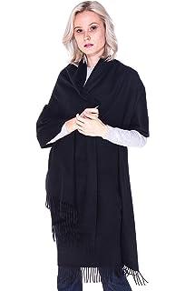 e32f813c4 LEBAC 100% Cashmere Wrap Scarf Shawl With Fringes - Extra Large Super Soft  & Warm