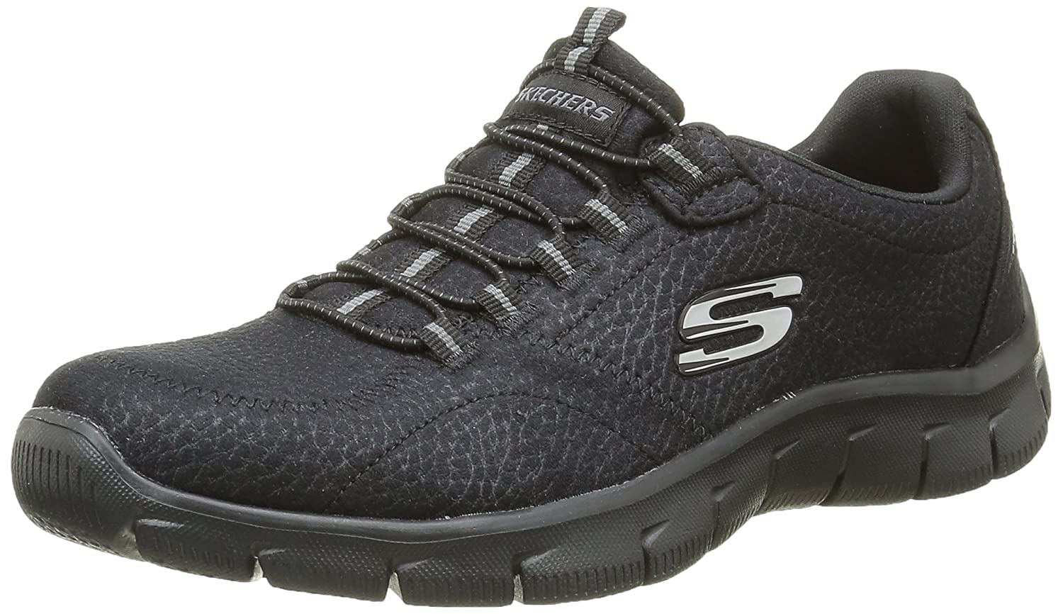 Skechers Damen Empire Take Charge Sneaker, Schwarz  37 EU|Schwarz (Bbk)