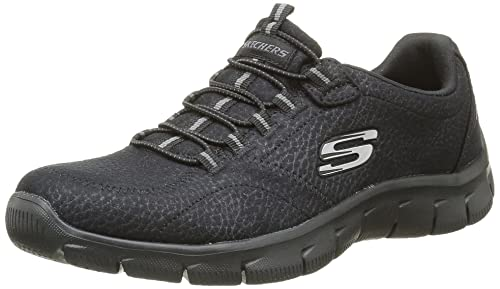 Skechers Relaxed Fit Empire Take Charge Womens Slip On Sneakers Black 6
