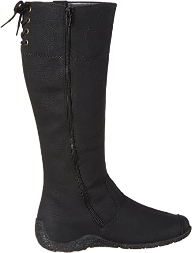 Rieker 79983 01 Black Synthetic Warm Lined Boot