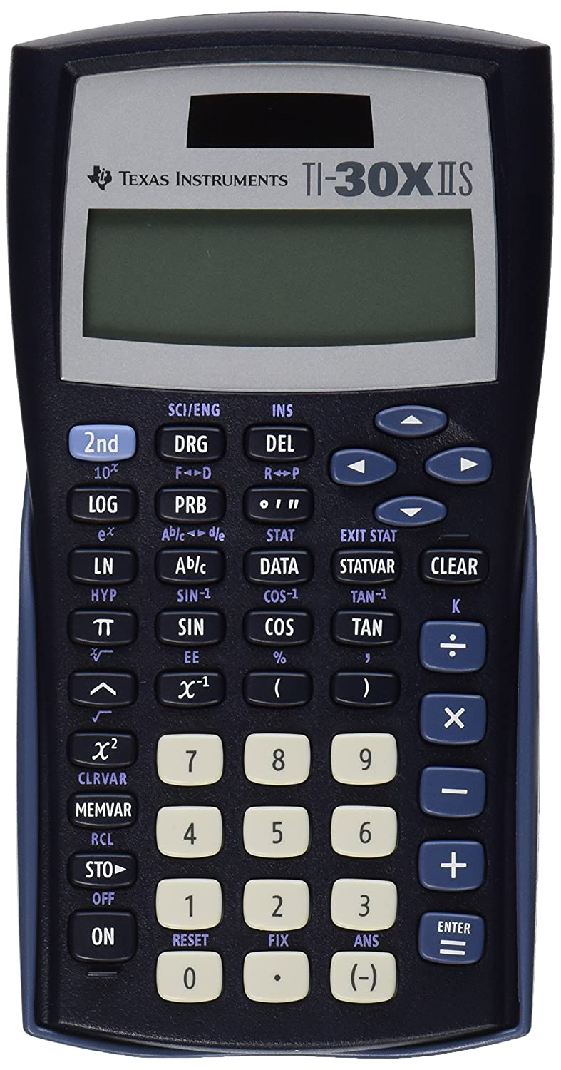 Amazon : Texas Instruments Ti30x Iis 2line Scientific Calculator,  Black With Blue Accents : Office Products