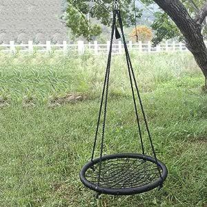 TOPIND - Red para columpio de árbol de araña con cuerda de nailon desmontable para niños y adultos de más de 600 libras: Amazon.es: Jardín
