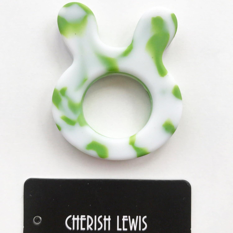 Cherish Lewis Bunny Anneau de dentition (Vert et blanc CHERISH LEWIS LTD