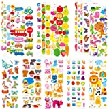 Stickers for Kids & Toddlers 500+ Puffy Stickers Variety Pack for Scrapbooking Bullet Journal Including Animal, Numbers, Frui