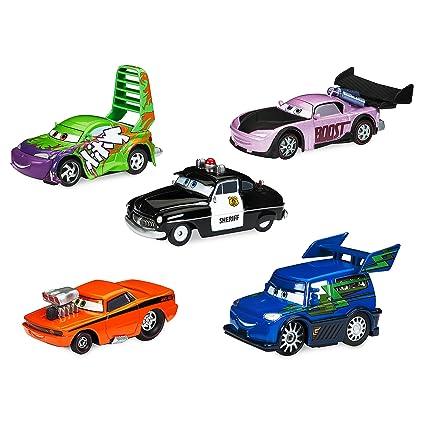 Amazon Com Disney Sheriff Tuner Cars Pullback Die Cast 5 Pack