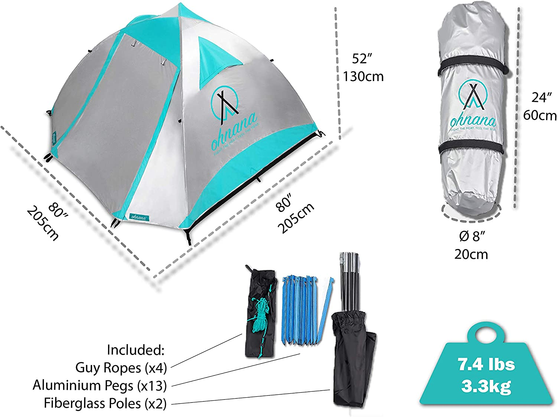 Amazon.com : Ohnana Cool 2-Person, Heat-Blocking Rayve II Tent ...