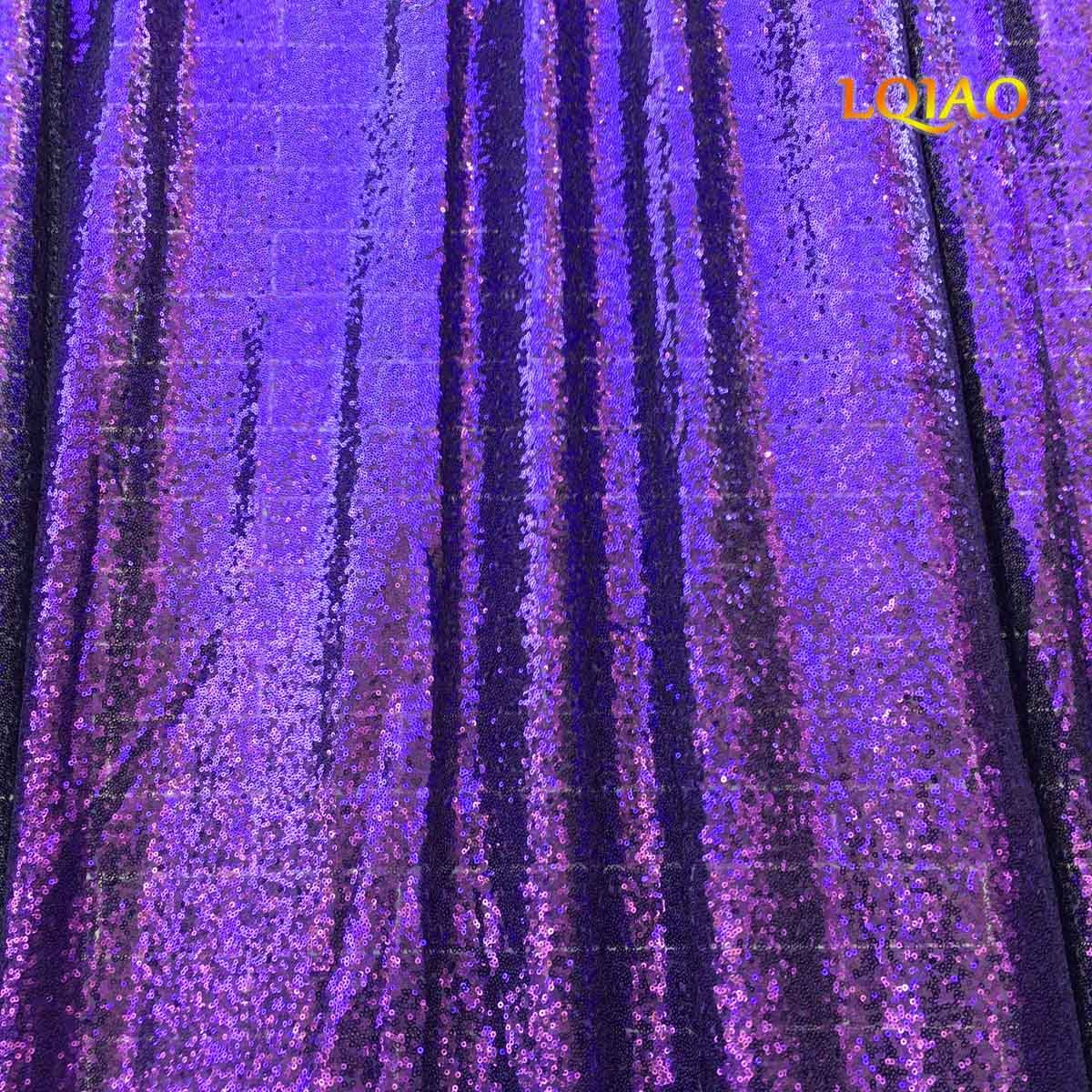 LQIAO Wedding Christmas Backdrop Glitter Purple 20FTx10FT Sequin Backdrop Window Curtain Photo Booth Photography Party Decoration by LQIAO