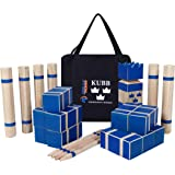 Kubb Tournament Size Yard Game Set for Adults, Kids, Families - Fun, Interactive Outdoor Family Games - Durable Pinewood Blocks with Travel Bag - Clean, Games for Outside, Lawn, Bars, Backyards