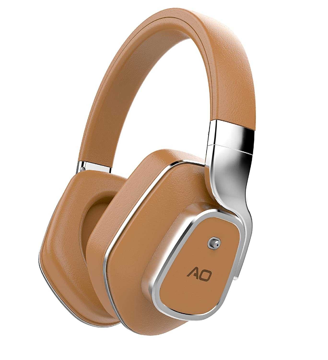 AO Active Noise Cancelling Wireless Bluetooth Headphones - M7 (Brown)