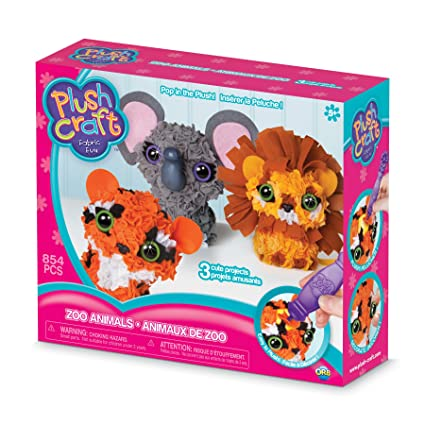 The Orb Factory Zoo Animals 3D Multi Mini Arts and Crafts (854 Piece),