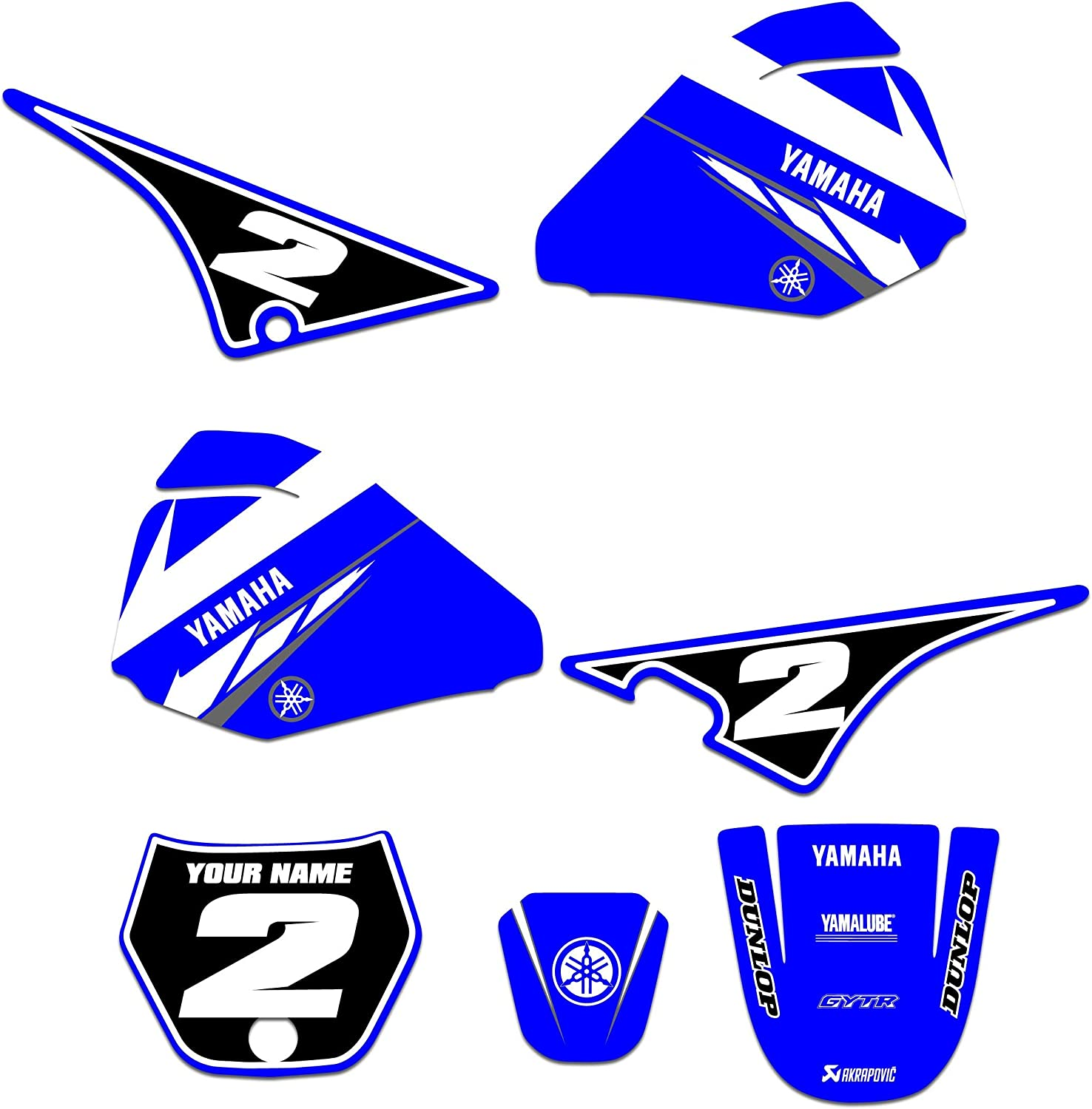 Compatible Fit for Yamaha PW 80 Enjoy Mfg Graphics Kit /& Custom Number Plates