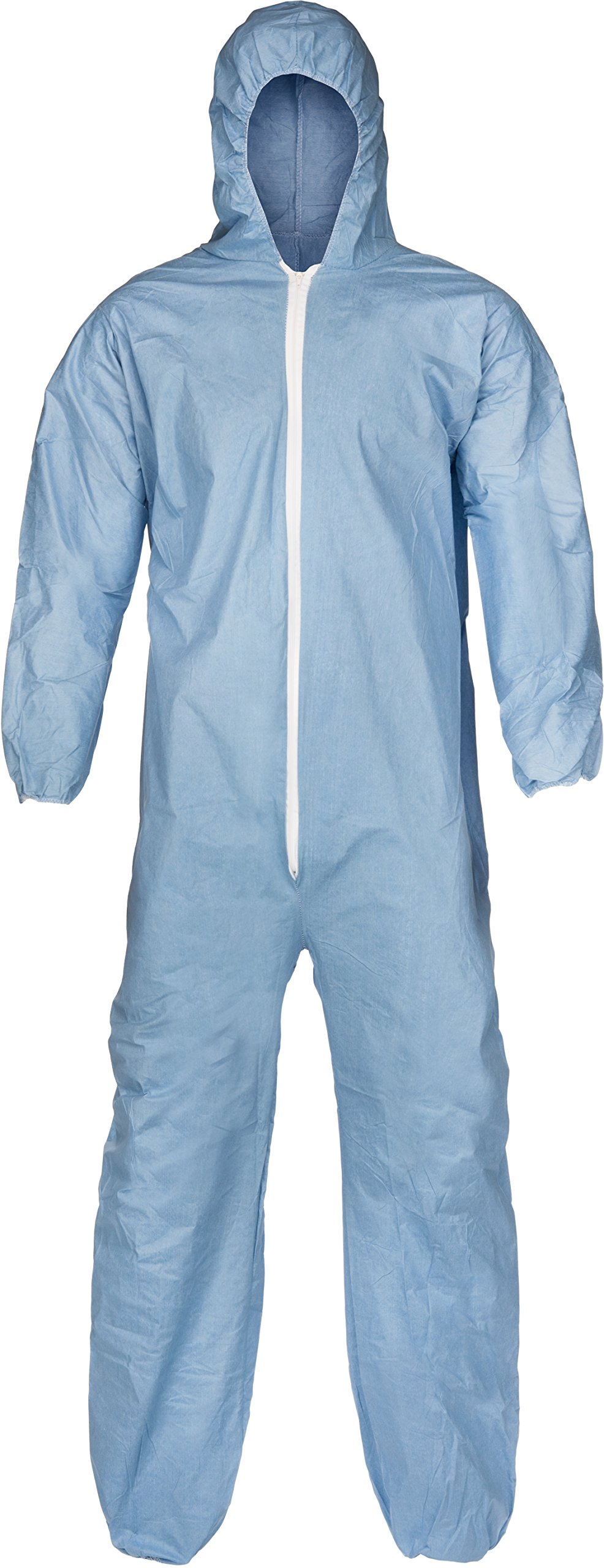 Lakeland Pyrolon Plus 2 Flame-Resistant Disposable Coverall with Hood, Blue, 2X-Large, Elastic Cuff (Case of 25) by Lakeland Industries Inc