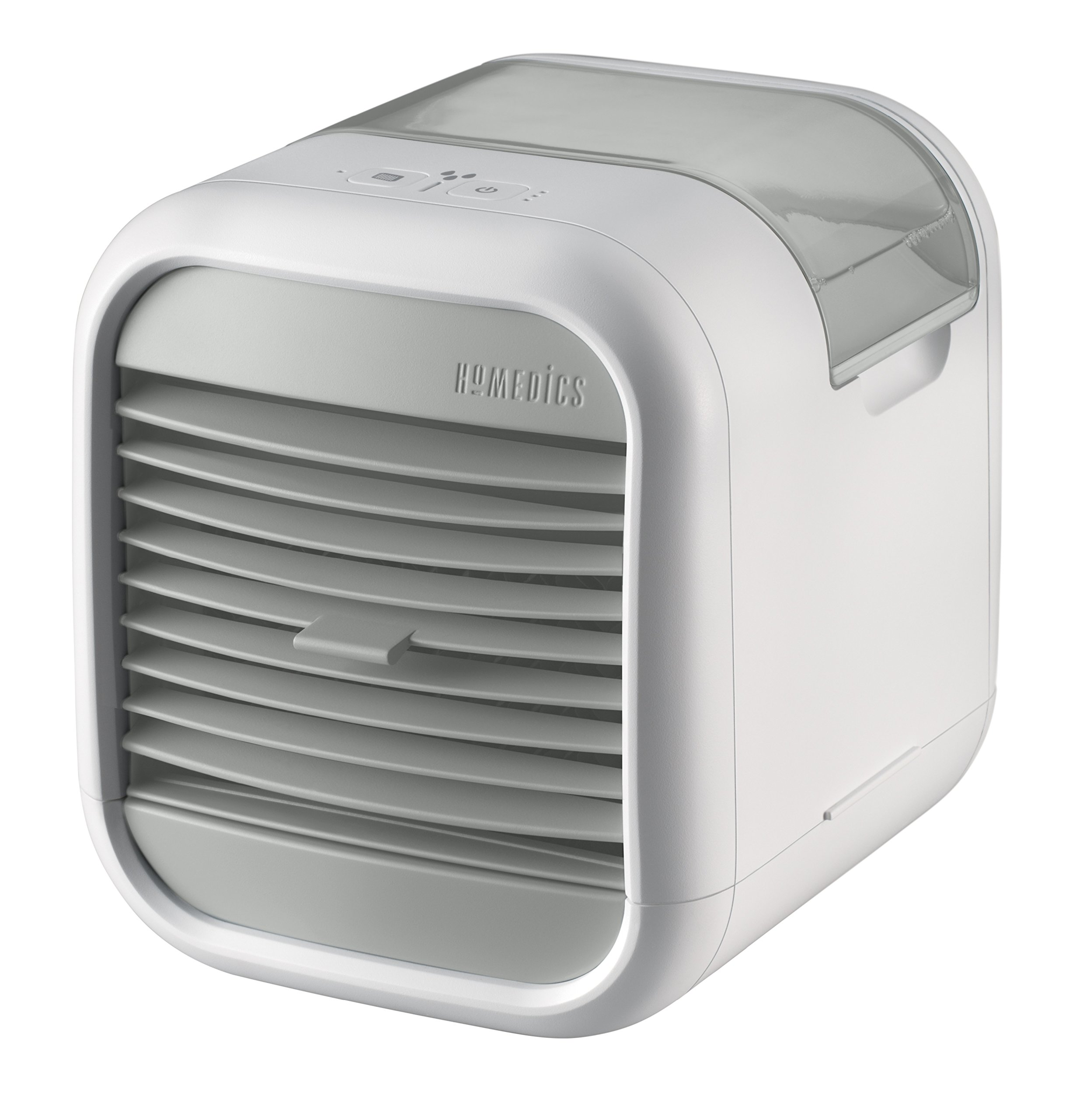 HoMedics MyChill Plus Personal Space Cooler, 6-Foot Cooling Area, Three Fan Speeds, Clean Tank Technology, Add Water, Plugs into 110v Outlet, Perfect for Office, Dorm, Nightstand, PAC-30 Black