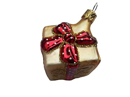 christmas gift box ornament miniature gold one of our hand painted christmas ornaments a