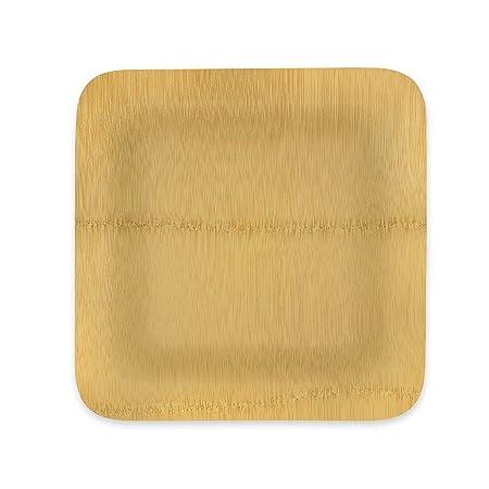 Einweg Bambus Teller Stabile 25 4 Cm Quadratisch Mehrere Pack