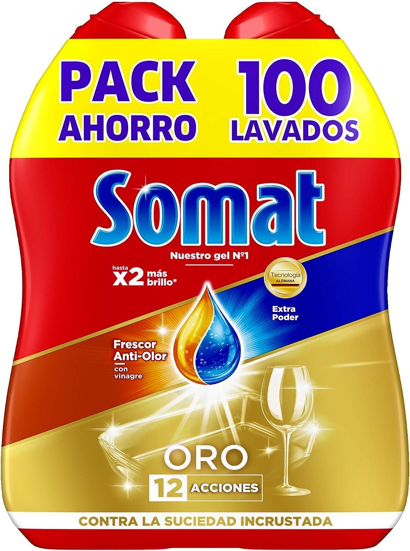 Somat Oro Gel Detergente Lavavajillas Vinagre - 100 Lavados (1.8 l)