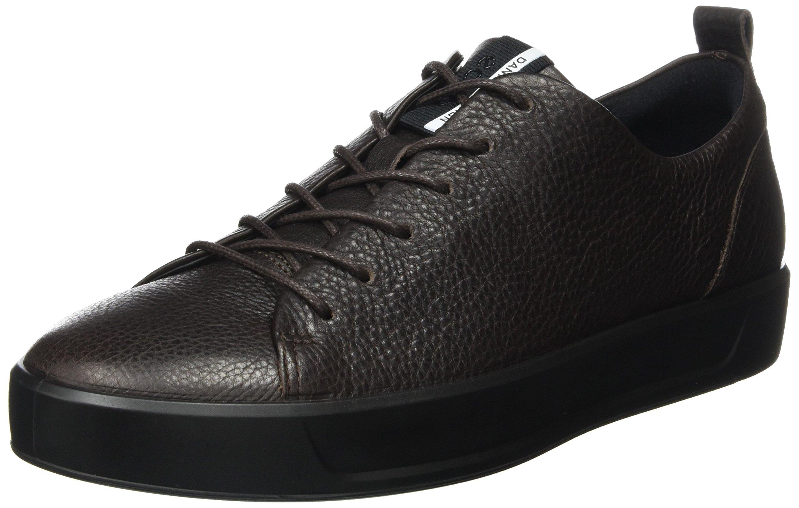 ECCO Men's Soft 8 Tie Fashion Sneaker, Coffee/Black, 45 M EU/11-11.5 D(M) US