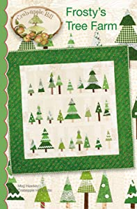"Frosty's Tree Farm Christmas Embroidery Pattern by Meg Hawkey From Crabapple Hill Studio #441 - 35"" x 35"""