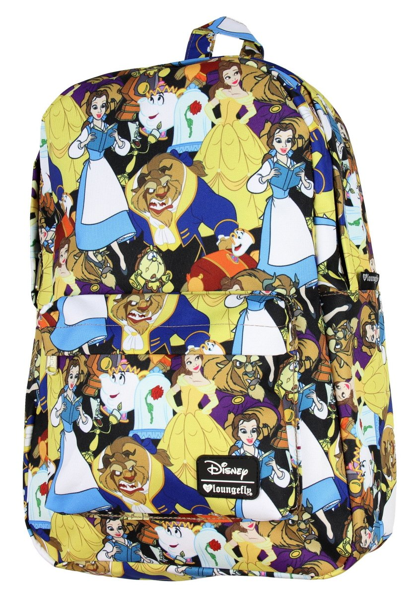 5e74dced628 Galleon - Loungefly Disney Beauty And The Beast Belle Character Girls  Laptop  Backpack WDBK0256