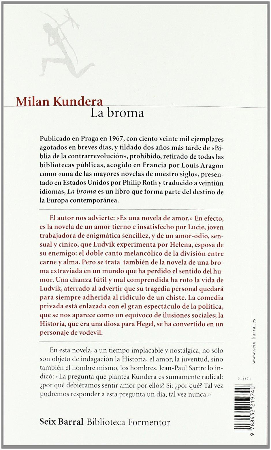 La broma (Biblioteca Formentor): Amazon.es: Milan Kundera: Libros