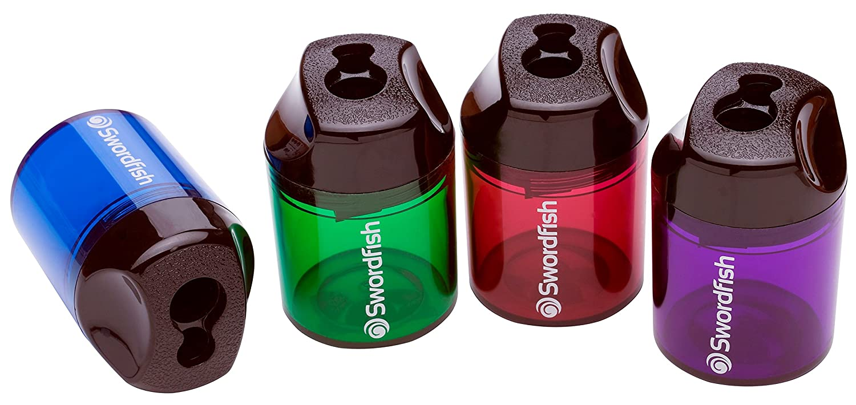 Swordfish 8 mm und 10, 5 mm Doppelloch Kunststoff Kanister Spitzer - farbig sortiert (10 Stück) Snopake Ltd 40033