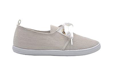 Amazon.com: dELias - Zapatillas de mujer con lazo de satén ...