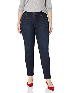 Lucky Brand Womens Plus Size Mid Rise Ginger Skinny Jean in Marian with Stripe Jeans