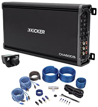 Package: Kicker 43CXA6005 600 Watt RMS 5-Channel Amplifier + Kicker 43CXARC Remote Control