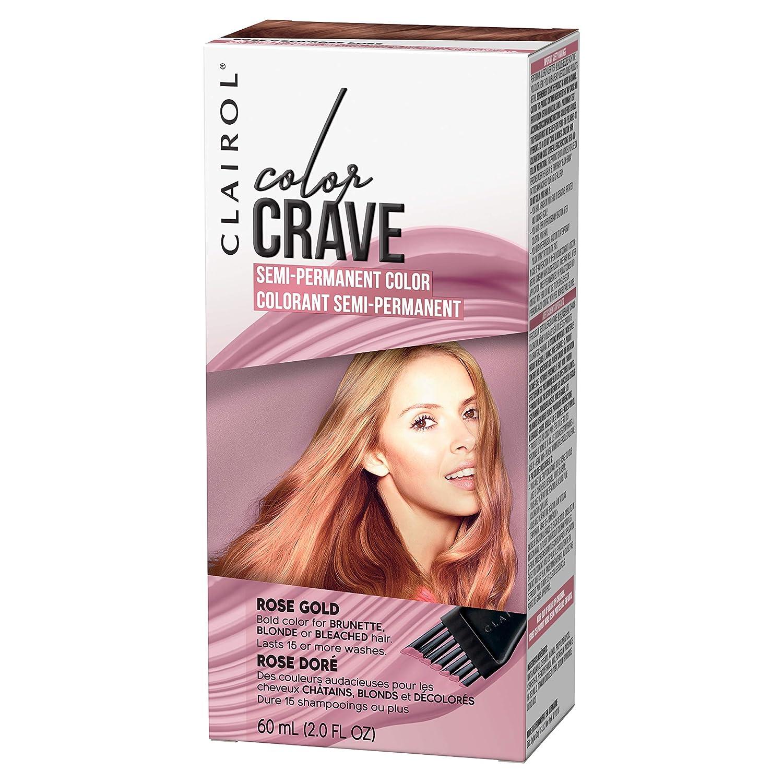 Amazon Com Clairol Color Crave Semi Permanent Hair Color Rose Gold Beauty