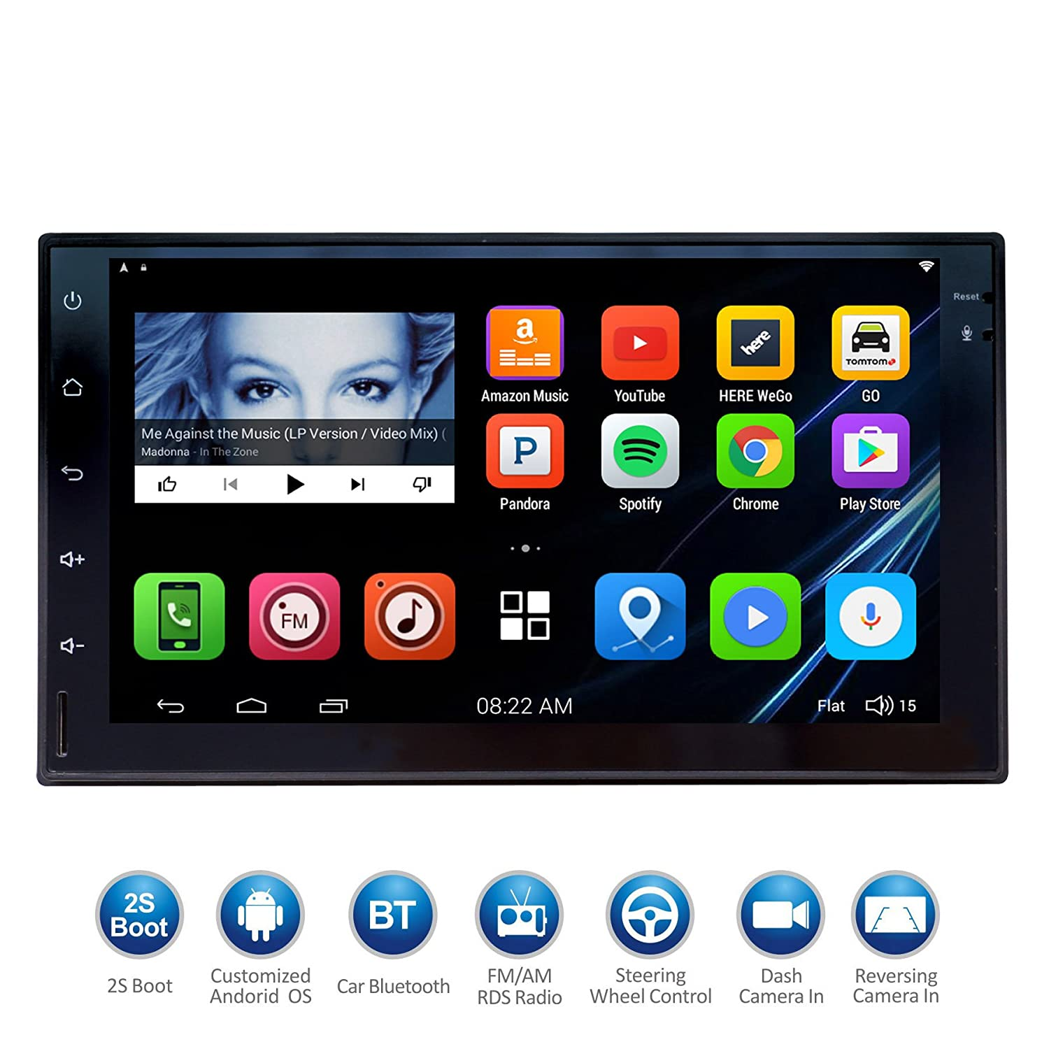 Atoto 7 Hd Touchscreen 2din Android Car Navigation 2004 F150 Obdii Wiring Harness Stereo Quadcore Entertainment Multimedia W Fm Rds Radiowifibtmirror Linkand