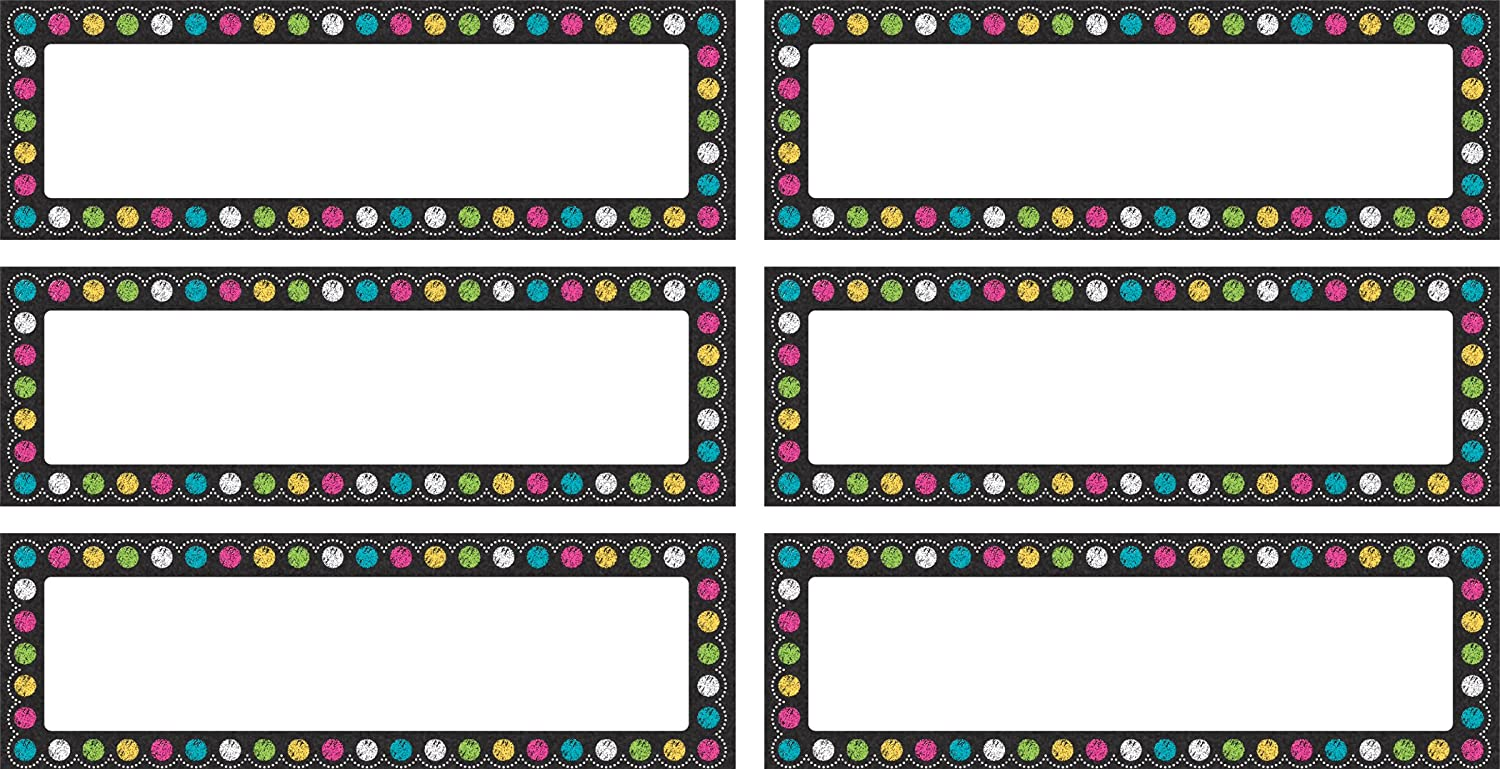 Teacher Created Resources Chalkboard Brights Labels Magnetic Accents