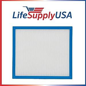 LifeSupplyUSA Replacement True HEPA Filter Compatible with HoMedics AP-10 AF-10FL AF-10 AP-15 AF-15 Air Cleaner