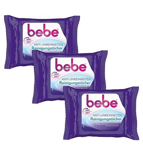 Bebe Anti de impurezas paños de limpieza/toallas suave para la limpieza facial contra acné