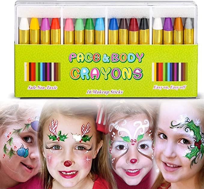 G4GADGET Face Paint Crayons Assorted Pack of 5