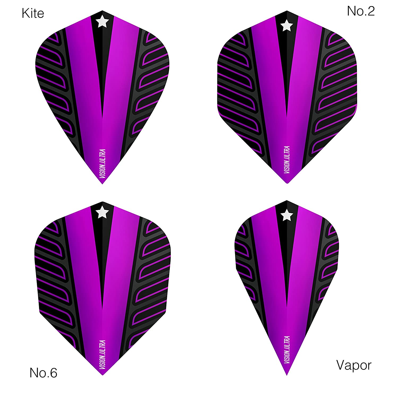 Target Vision Ultra White Wing Black No6 Standard Dart Flights