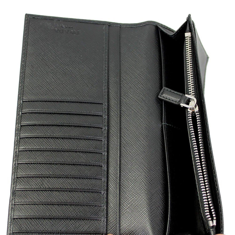 91f108ced1a PRADA MEN S BLACK SAFFIANO LEATHER LONG WALLET 2MV836 NERO at Amazon Men s  Clothing store