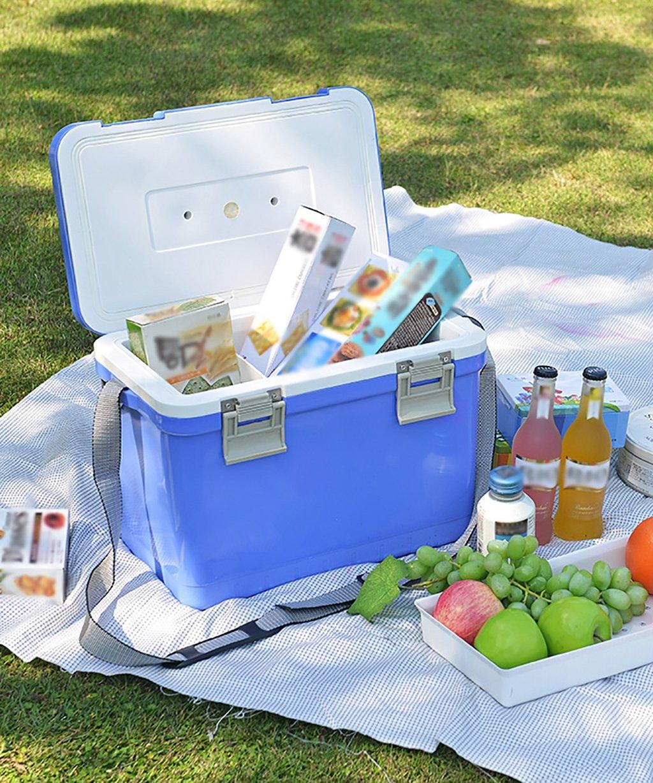 LIQICAI 12 L Kühlbox Tragbare Kunststoff-Kühlbox - 10.91QT (Farbe : Blau, größe : 15.75L8.86W11.02H)