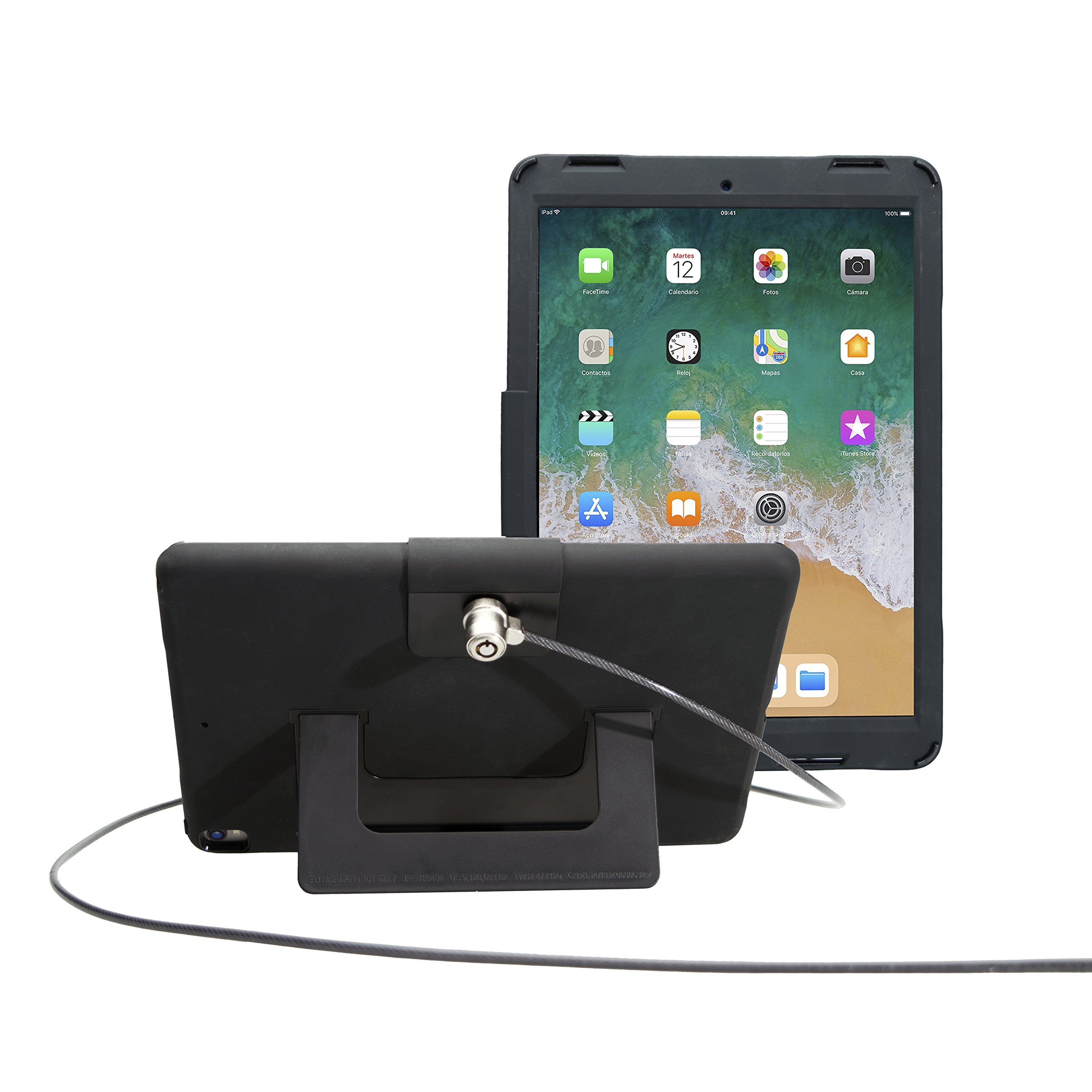 Security Case with Kickstand and Anti-Theft Cable for iPad Pro 10.5