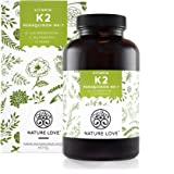 Vitamin K2 MK7 - 365 Kapseln im 12 Monatsvorrat. Hochdosiert mit 200 µg (mcg). Absolute Spitzenqualität mit Gnosis Vitamk7 Rohstoff. Pflanzliches Menaquinon 7 (MK 7) mit >99% All Trans. Hochdosiert, vegan und hergestellt in Deutschland