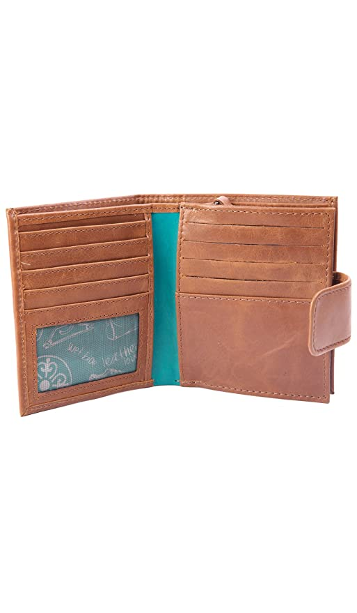 Velez Women Genuine Full Grain Leather Bifold Small Wallets Billeteras de Cuero at Amazon Womens Clothing store: