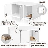 Way Basics Modern Cat Litter Box Enclosure, White