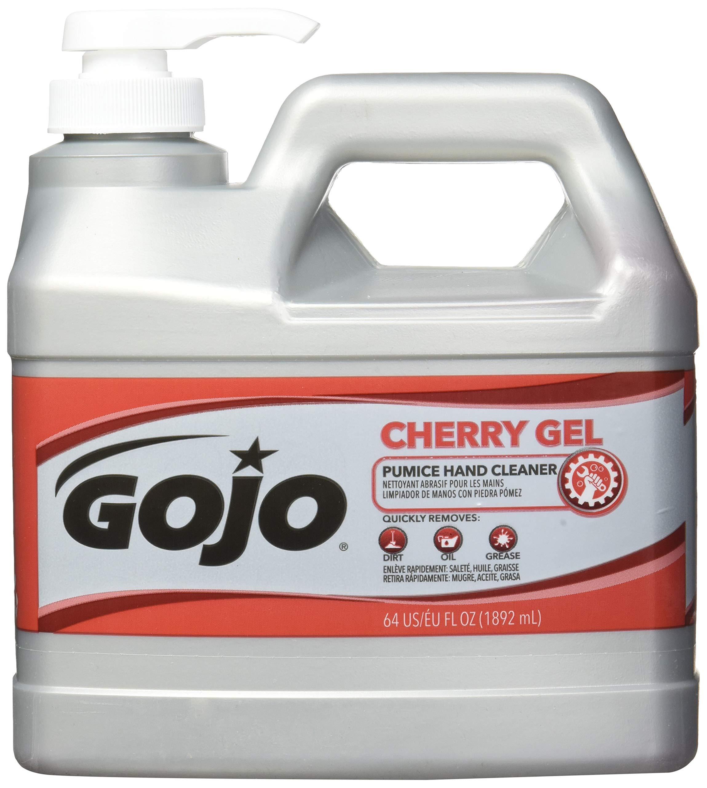 Gojo 2356-04 Cherry Gel Pumice Hand Cleaner, 0.5-gallon by Gojo (Image #2)
